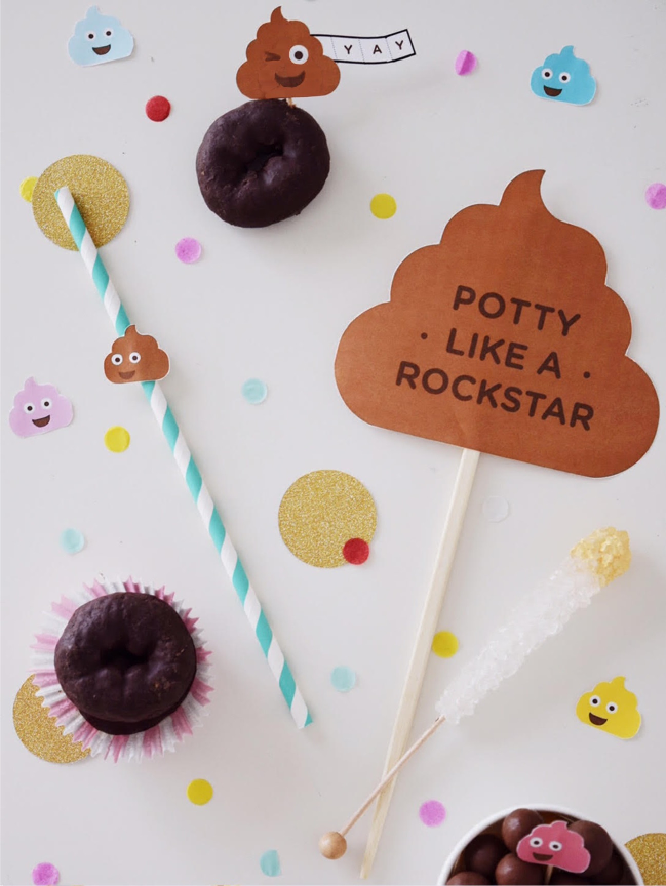 DIY Potty Like Rockstar Party and Printable Photo Booth Props | Potty Training Party