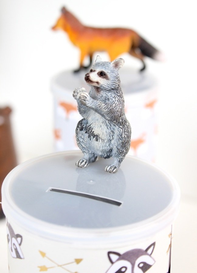 raccoon-fox-on-a-piggy-bank-lid