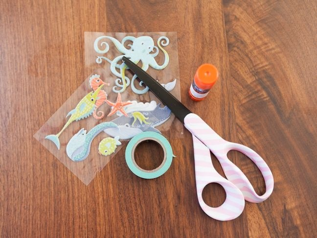 scrapbook-essentials-for-kids-scissors-stickers-washi-tape