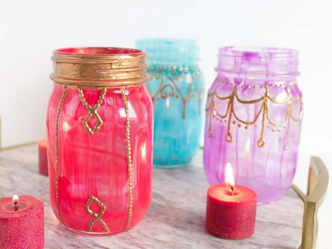 Make Moroccan Lanterns with Glass Jars