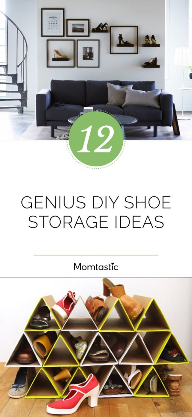12 Genius DIY Shoe Storage Ideas