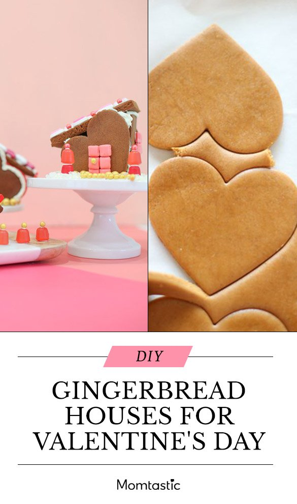 Make the Cutest Gingerbread House Village For Valentine's Day