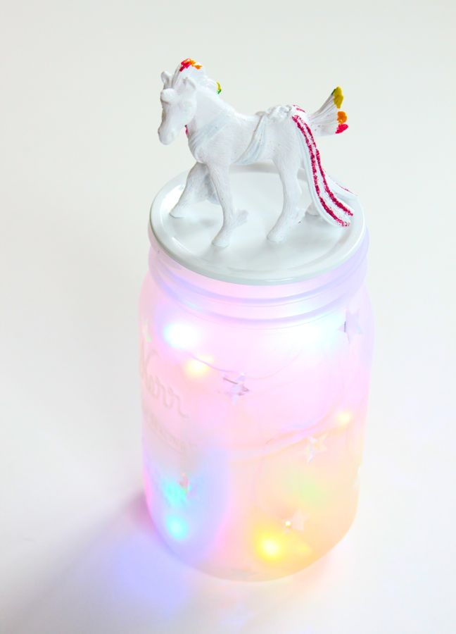 mason-jar-with-a-unicorn-and-colorful-lights