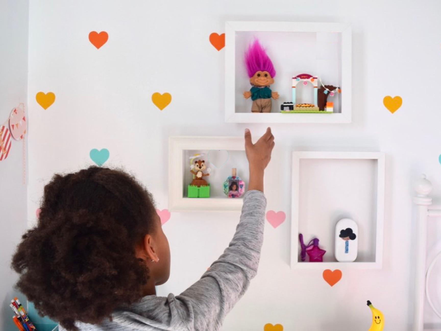 DIY Picture Frame Shelves to Show Off Your Kid's Colletibles