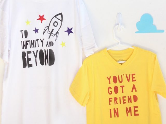 Celebrate Toy Story Land at Walt Disney World With DIY Woody and Buzz T-Shirts