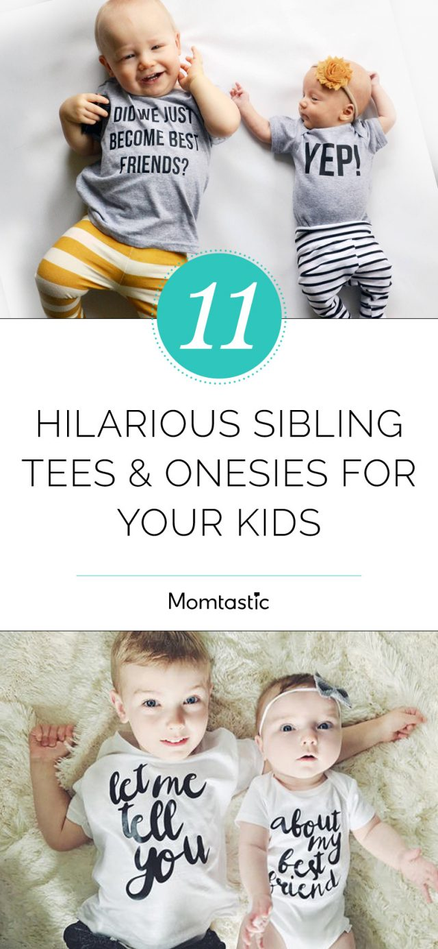 11 Hilarious Sibling Tees and Onesies for Your Kids