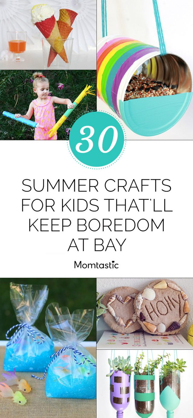30 Summer Crafts for Kids That'll Keep Boredom at Bay