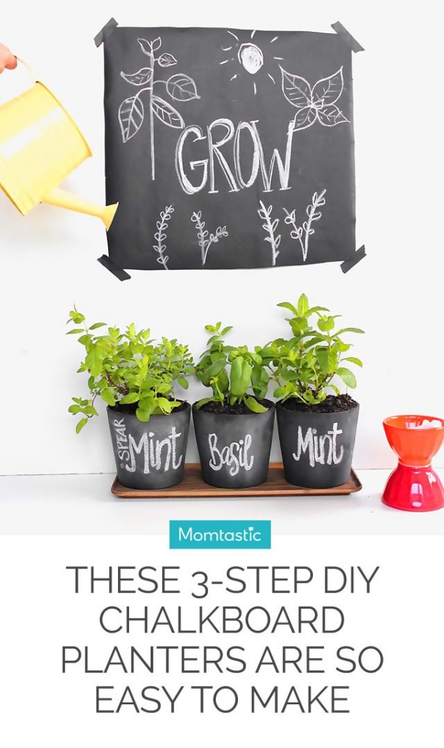 These 3-Step DIY Chalkboard Planters Are So Easy to Make