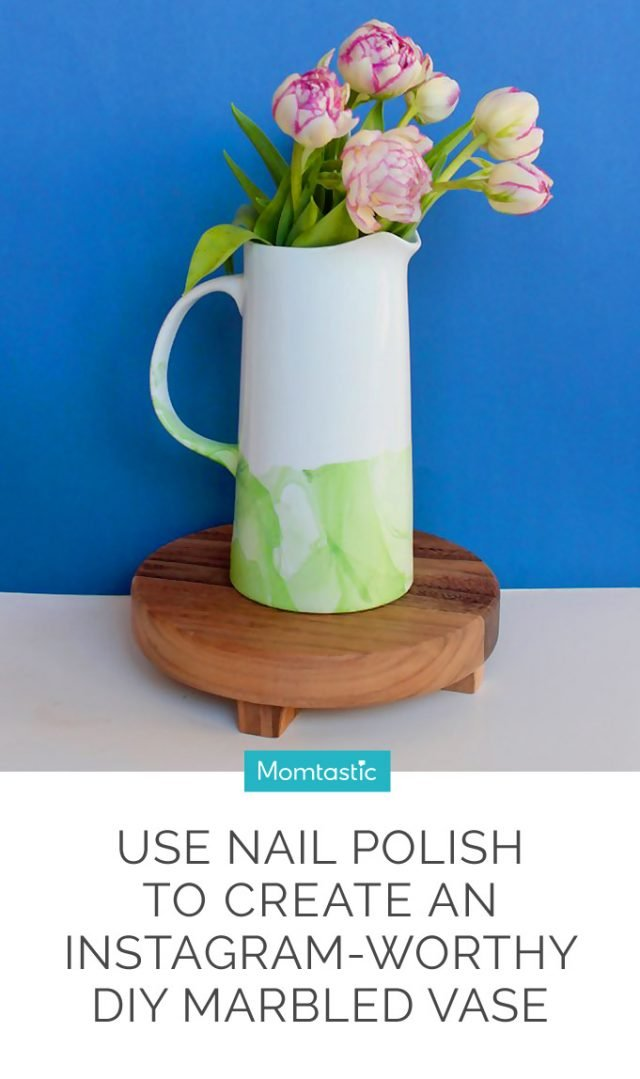 Use Nail Polish to Create an Instagram-Worthy DIY Marbled Vase