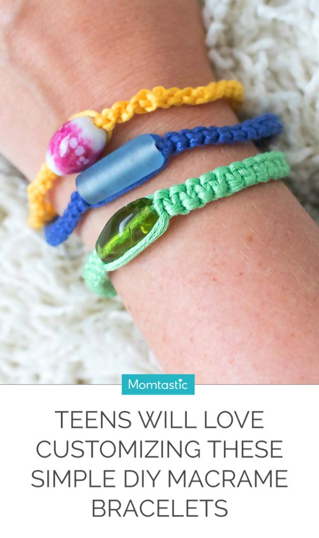 Teens Will Love Customizing These Simple DIY Macrame Bracelets