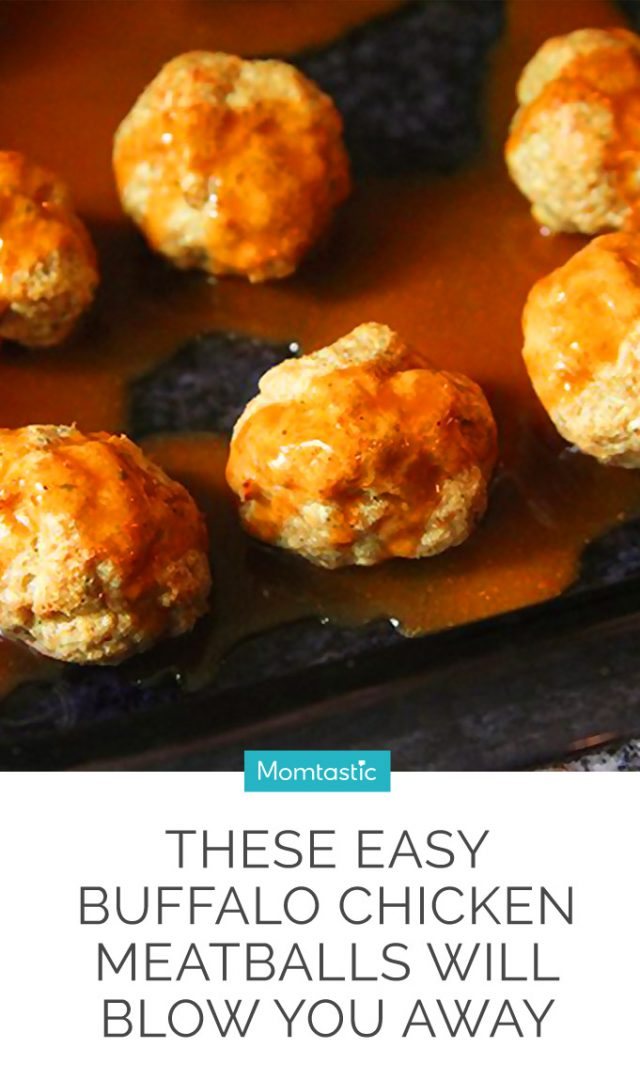 These Easy Buffalo Chicken Meatballs Will Blow You Away