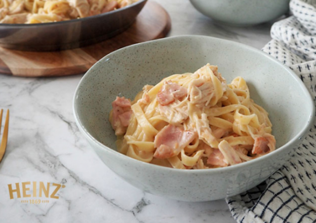 Hands-Down The Simplest, Tastiest Creamy Chicken Carbonara Recipe In Existence
