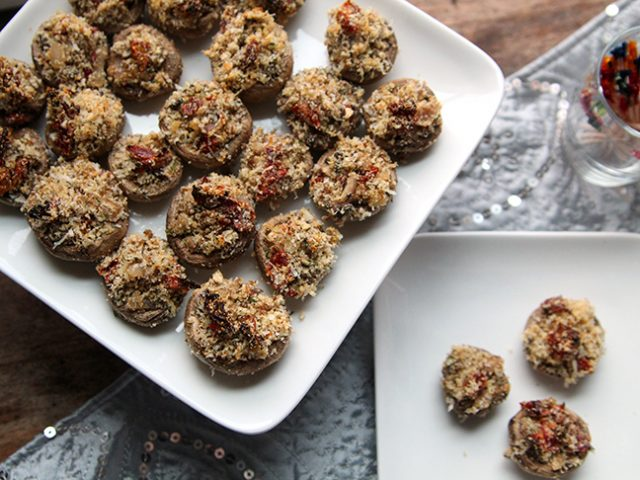 Sundried Tomato Parmesan Stuffed Mushrooms