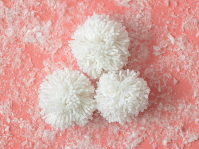 Kids will Love Having an Indoor Snowball Fight with Pom Poms!