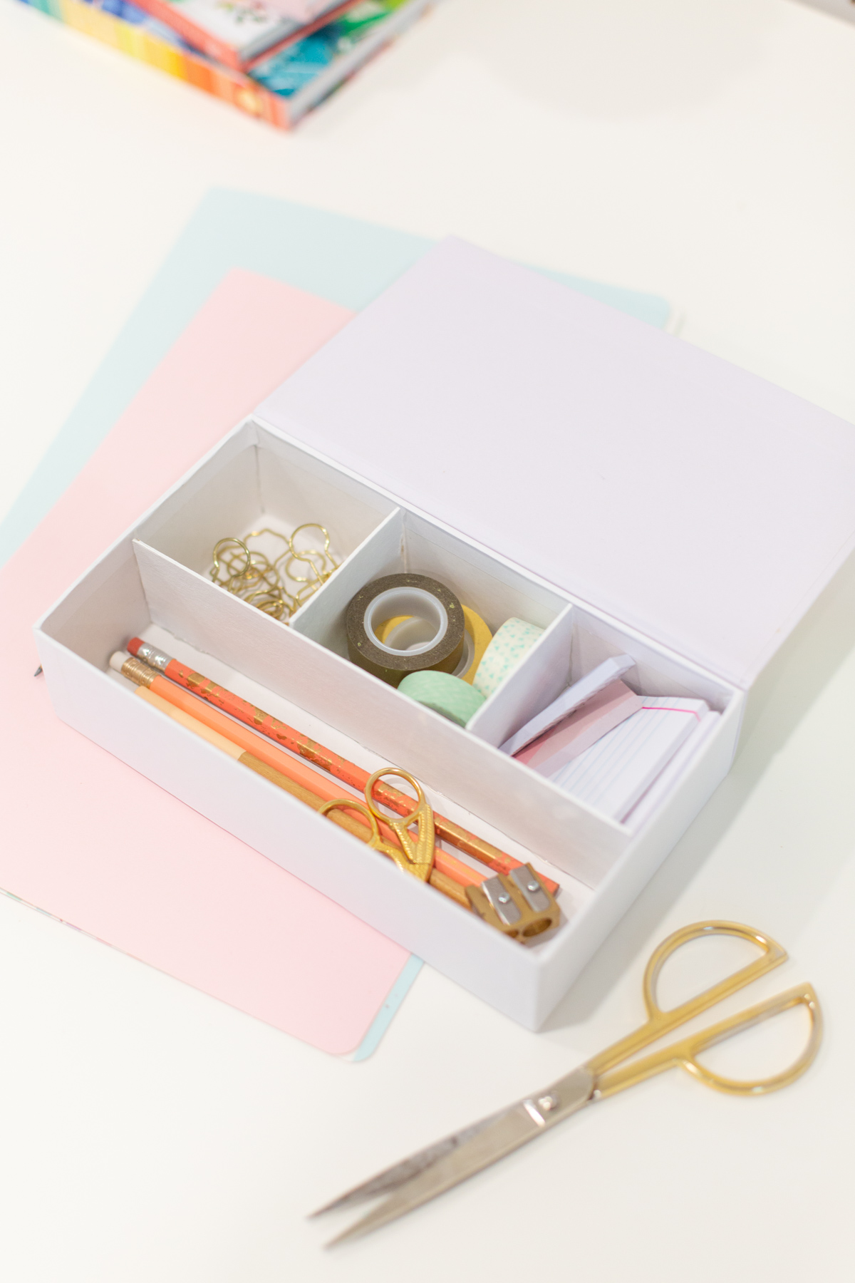 DIY compartments inside pencil box