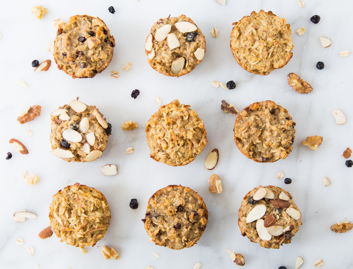 Breakfast Oatmeal Cups 3 Different Ways