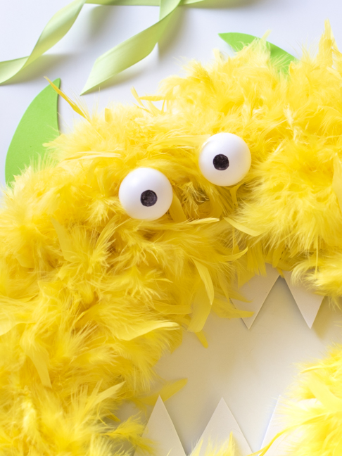 This Completely Un-Scary Monster Wreath will Brighten your Door for Halloween
