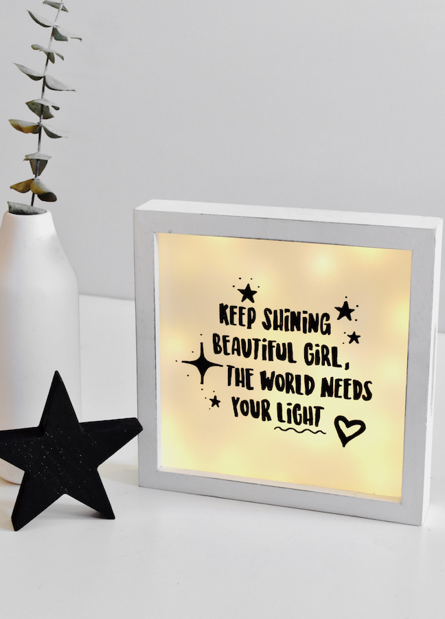 Recycle Christmas Lights To Make This Adorable DIY Lightbox