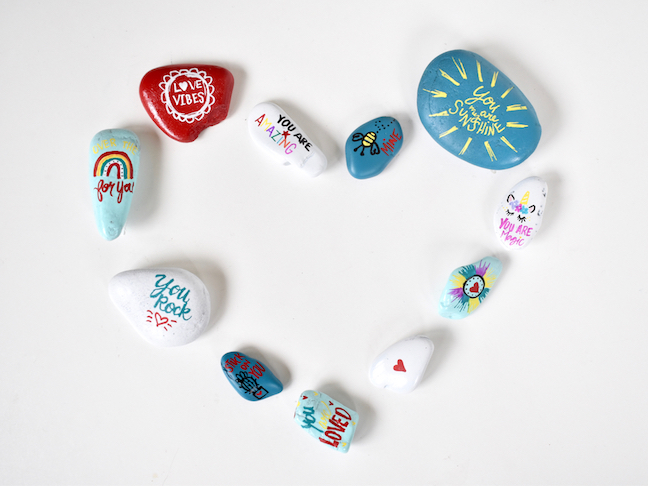 Say I Love You With DIY Valentine's Day Rocks
