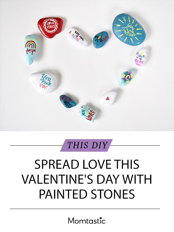 Spread Love This Valentine's Day With DIY Painted Stones