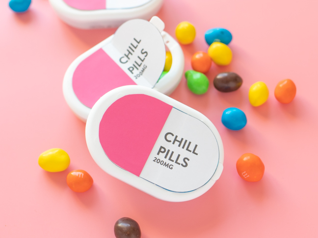 Candy Gifts DIY Chill Pill (with printable labels)