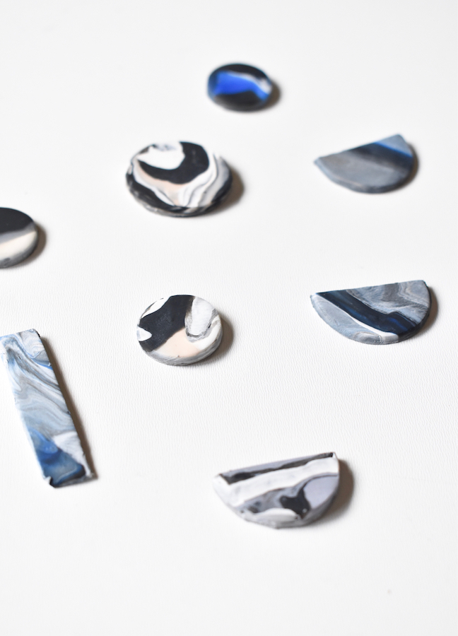 This DIY Geometric Clay Necklace Is A Stunner