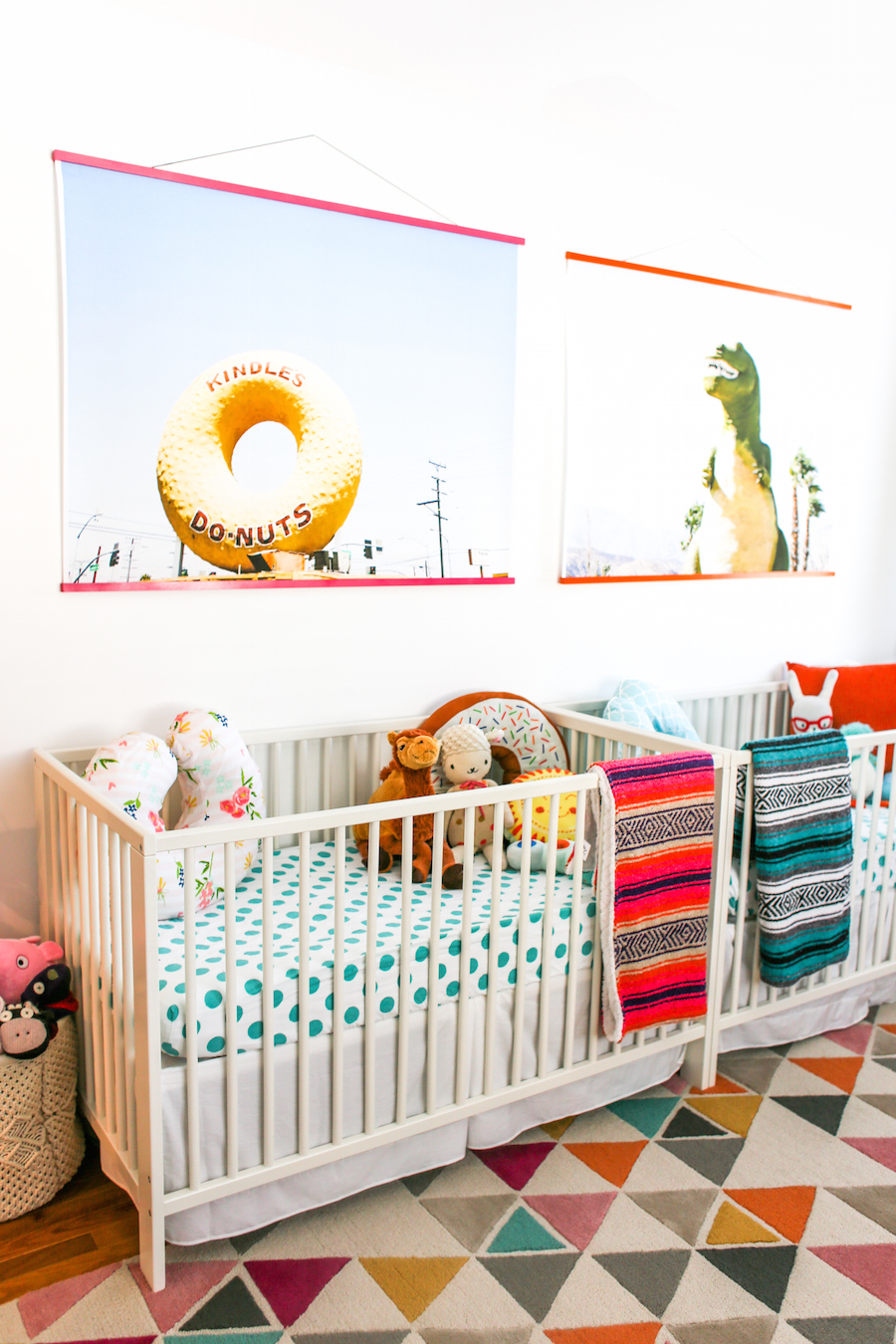 Bright, Bold Nursery for Twins