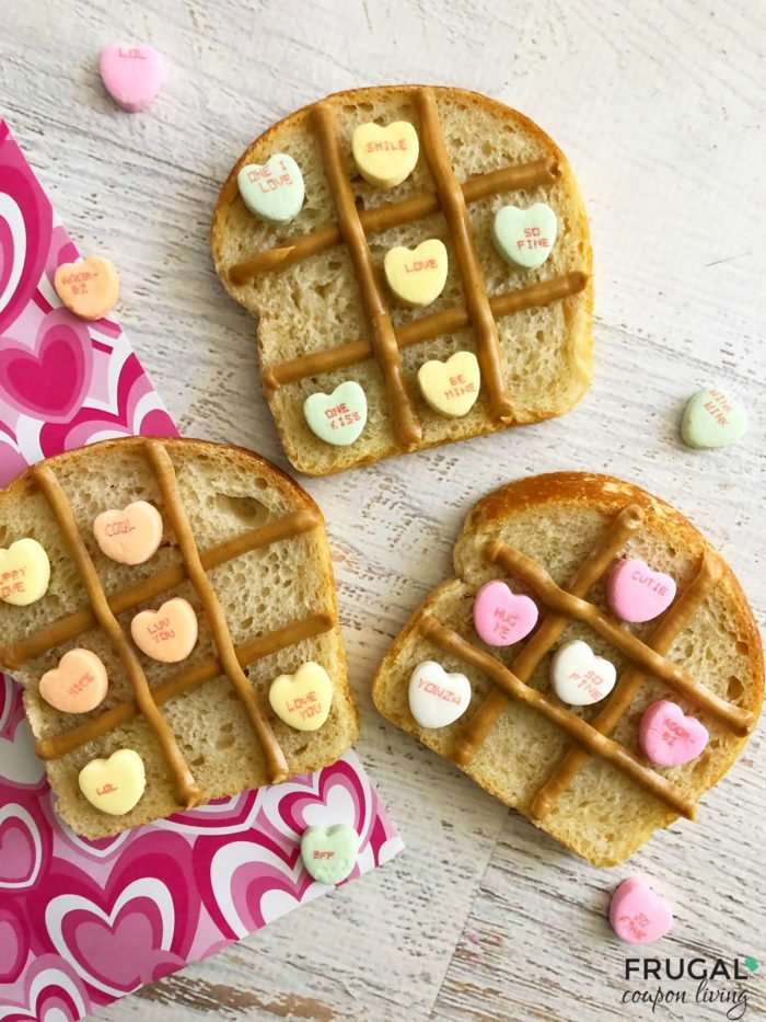 Tic Tac Toe Valentine's Day Lunch