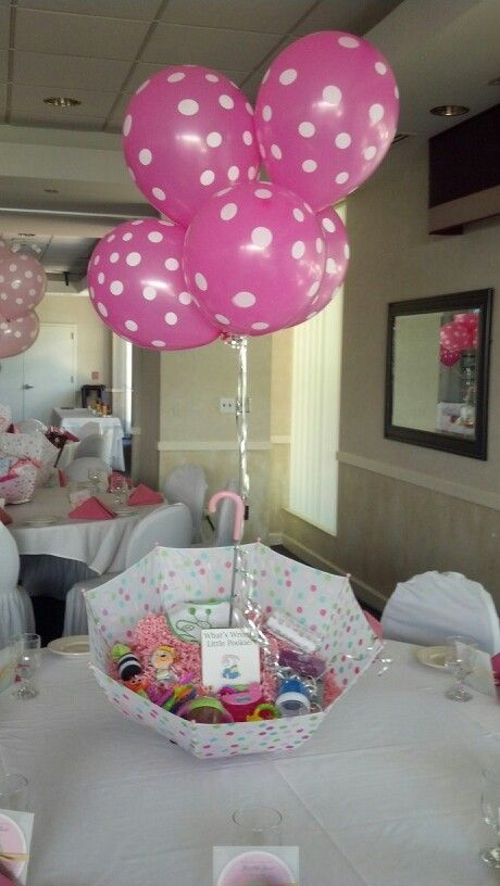 Easy to make baby shower centerpieces