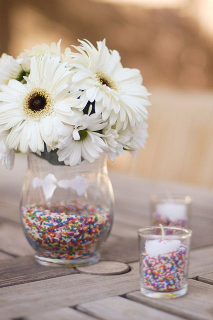 Sprinkle Vase and Candle