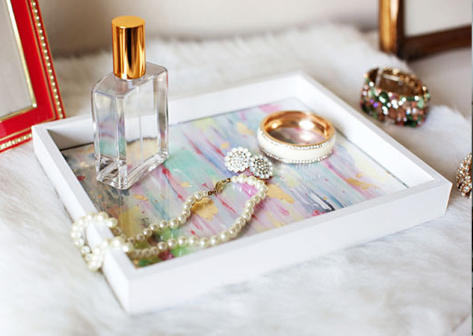 Jewelry Tray from a Picture Frame