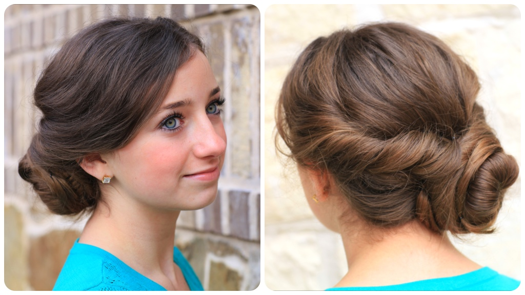 Hairstyles For Short Hair Nz : ... Hairstyles Twisted Updo Easy in addition Cute Hairstyles For Short