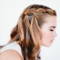For Long Hair: Waterfall Braid