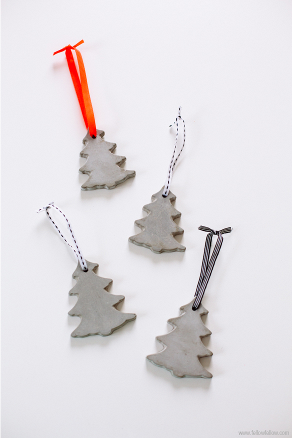 Cement Tree Ornaments
