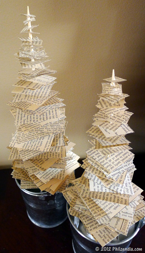 paper table trees - Inexpensive Christmas Trees