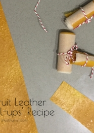 Chewy fruit leathers