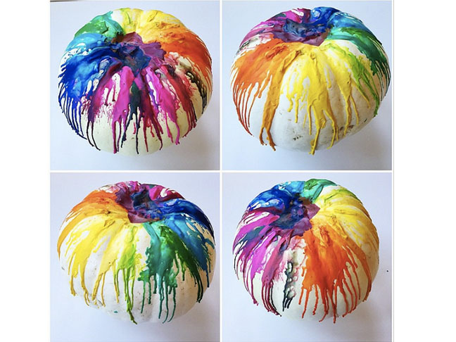 Decorate with Melted Crayons