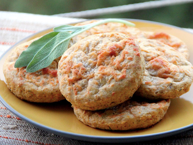 Pumpkin Biscuits With Sage and Gruyere
