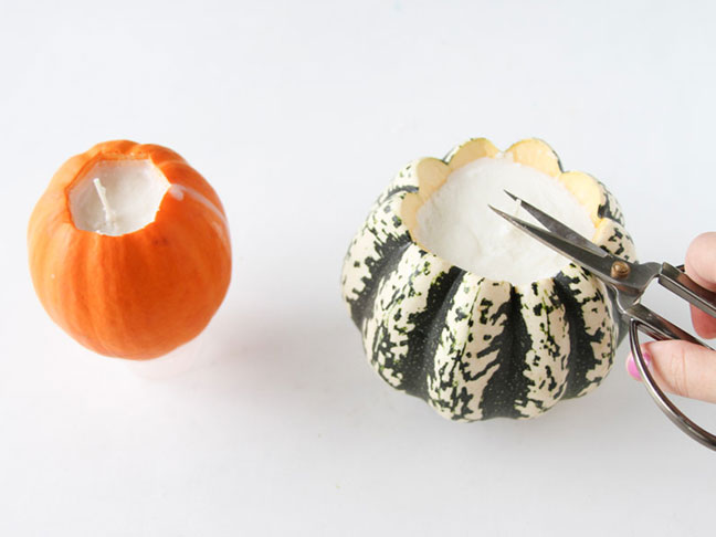 Turn Pumpkins into Candles