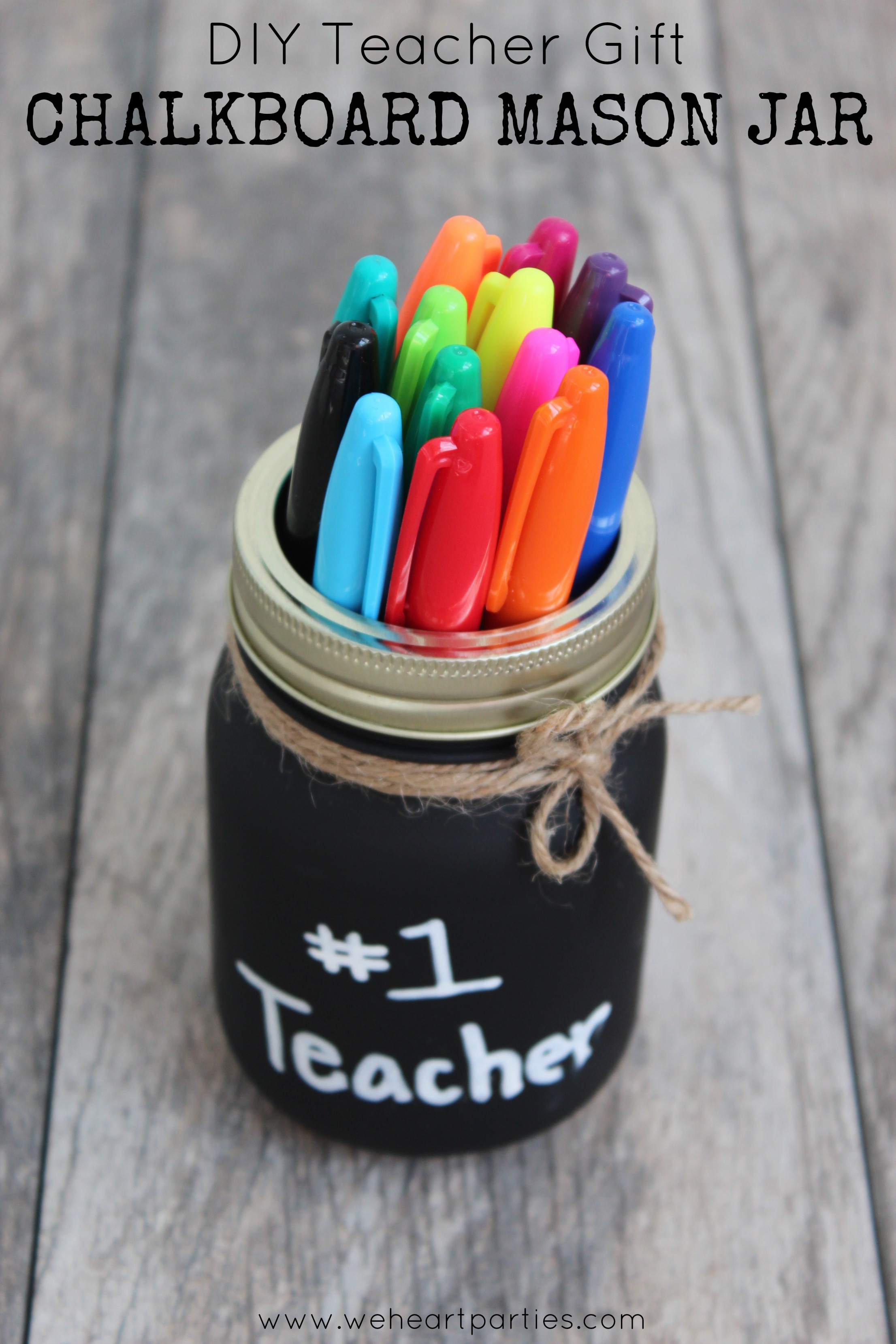 Gift Idea: Chalkboard Jar with a Message