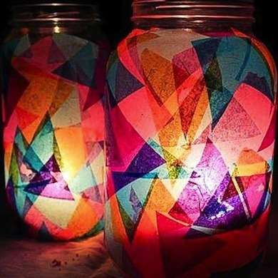 For the Kids: Make Tissue Paper Luminaries