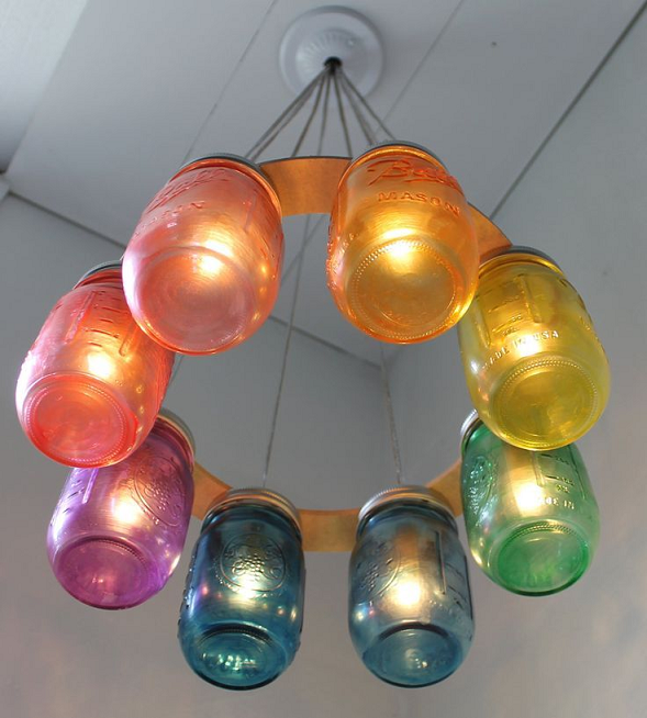 Home Decor: Make a Rainbow Chandelier