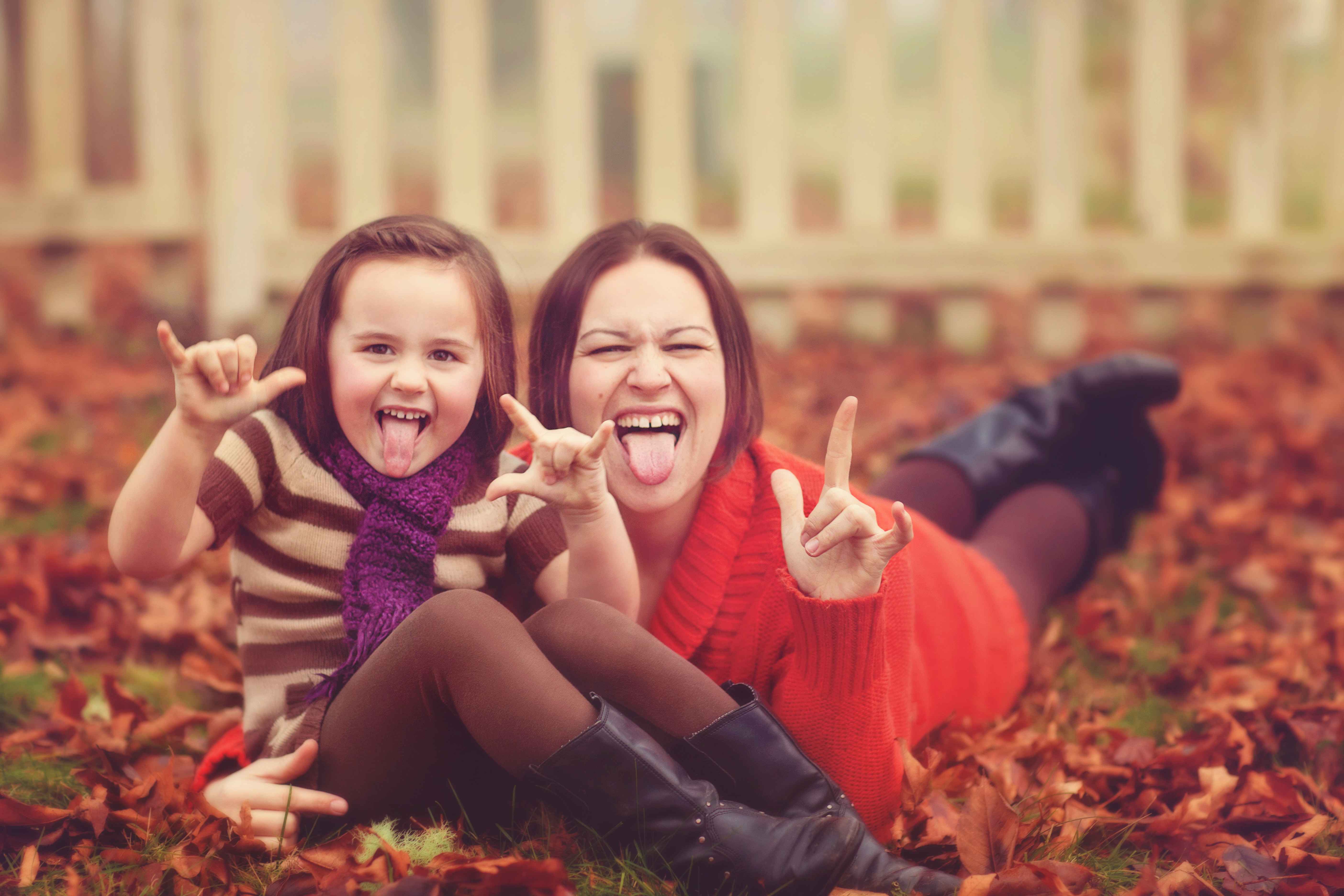 Take funny photos together