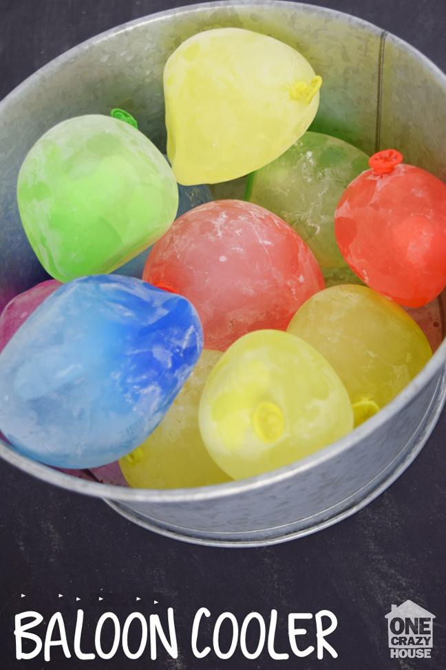 Freeze Water Balloons for Your Cooler