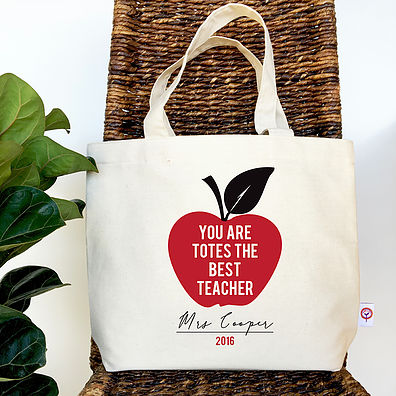 Colour and Spice Totes the Best Teacher Tote Bag