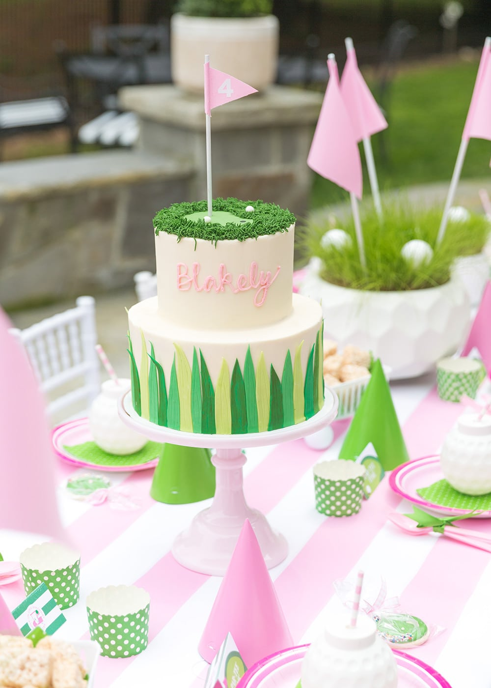 Preppy Golf Birthday Cake