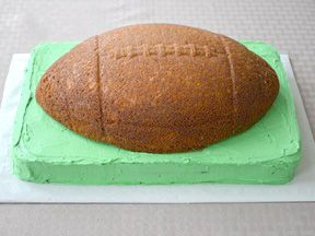 DIY Football Birthday Cake