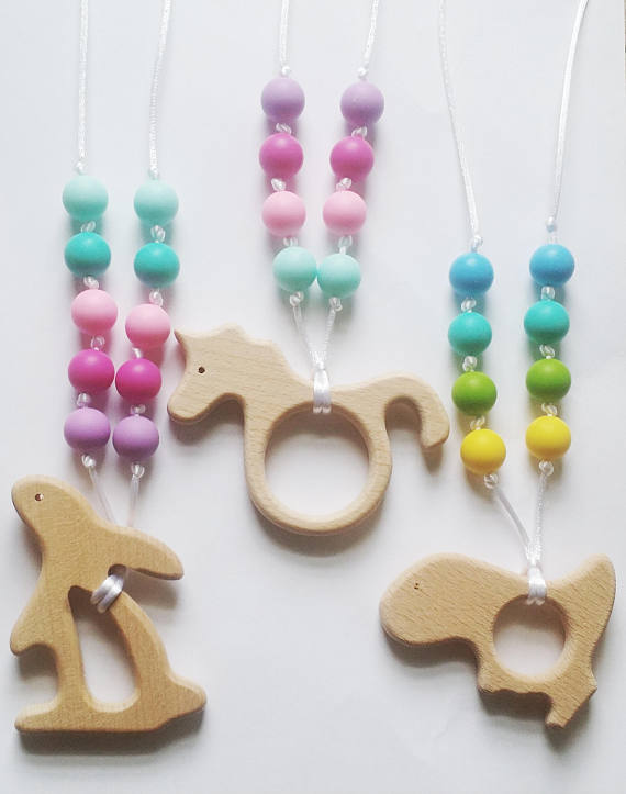 Rainbow Teething Necklace for Tots