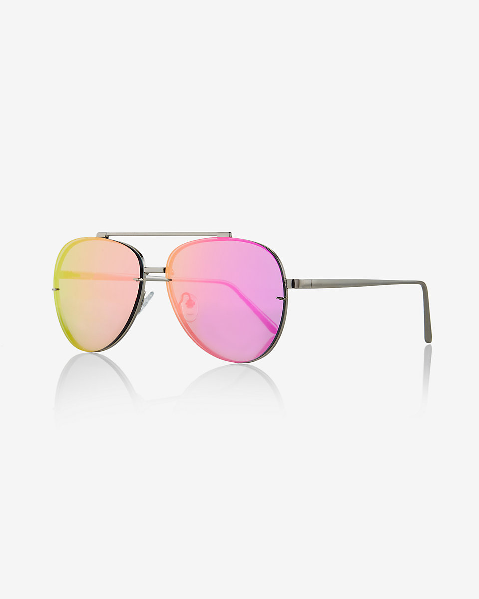 Semi-Transparent Rimless Sunglasses