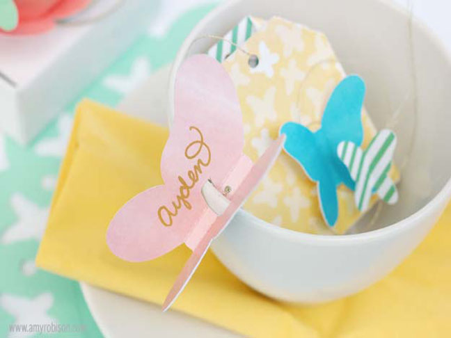 Butterfly place cards